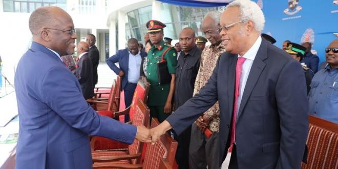 Image result for Images of Edward Lowassa and Magufuli