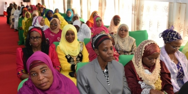 A section of women leaders attended the Eid el Fitr council held at former House of Representative hall at Mnazi Mmoja in Unguja yesterday. Photo: Zanzibar State House