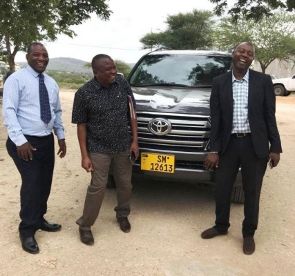 District Executive Directors from Simanjiro, Yefred Myenzi (L), Tamim Kambona of Kiteto (C) and Bryceson Kibassa of Hanang' in jovial mood after attended a seminar on education improvement strategies in Manyara region yesterday. Photo: Correspondent Gift Thadey