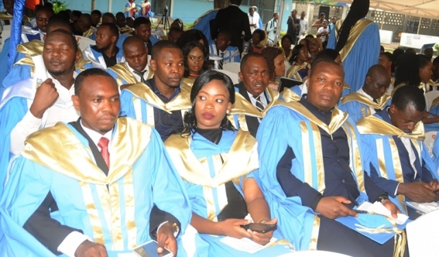 A cross section of Bachelor Degree in International Relations and Diplomacy graduates follow the proceeding during the Centre for Foreign Relations (CFR) 21st graduation ceremony at Kurasini in Dar es Salaam yesterday. Photo: John Badi