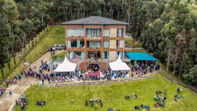 An aerial view of the late Dr Reginald Mengi's home at Nkuu Sinde Kisereni in Machame East ward. Photo: Correspondent
