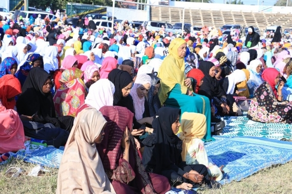 Muslim faithful take part in Eid el Fitr prayers in Dodoma city yesterday. Photo: Correspondent Ibrahim Joseph